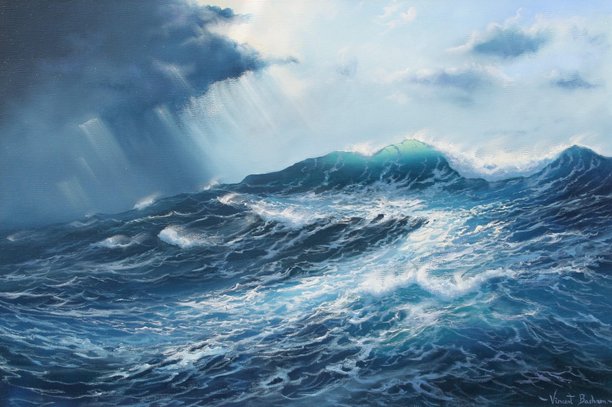 Adrift 2 410 x 610 Vincent Basham Cornwall Seascape Artist