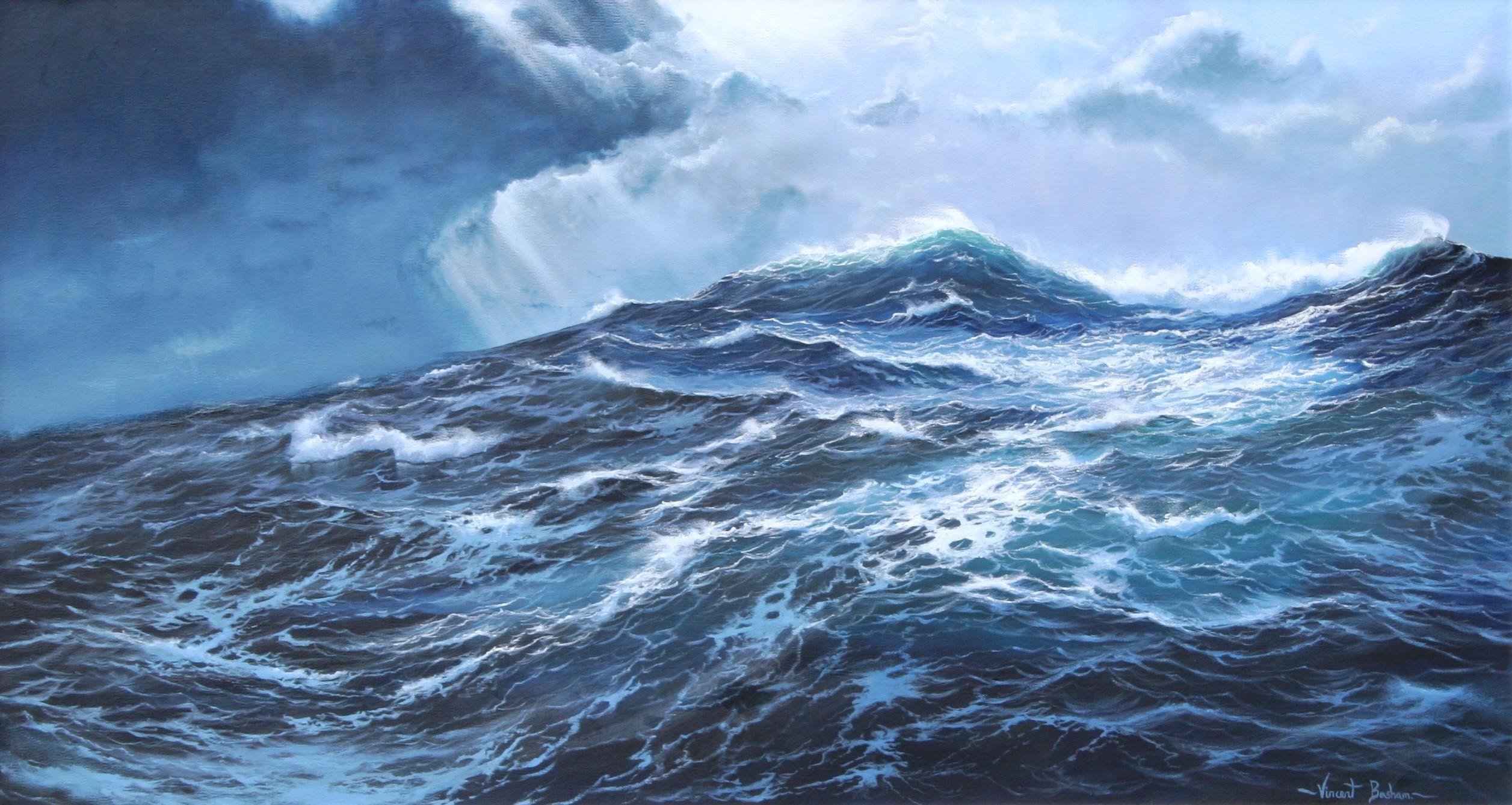 Adrift 610 x 920 by Vincent Basham Seascape Artist Cornwall