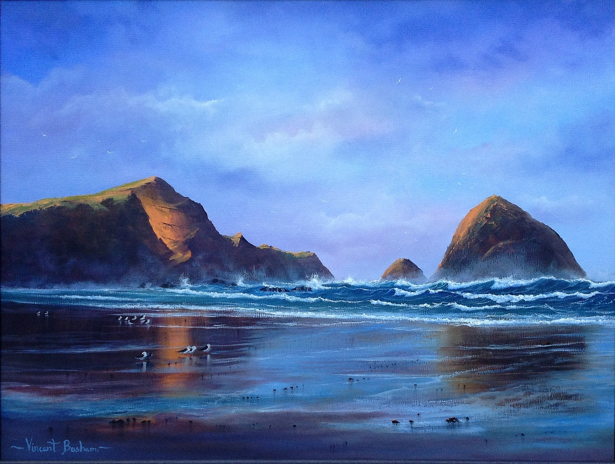 After The rain 2 410 x 510 by Vincent Basham Seascape Artist Cornwall