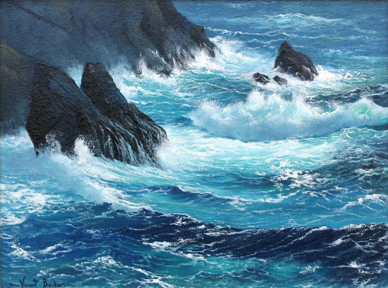 Rockstudy 310 x 410 Marine Paintings Cornwall