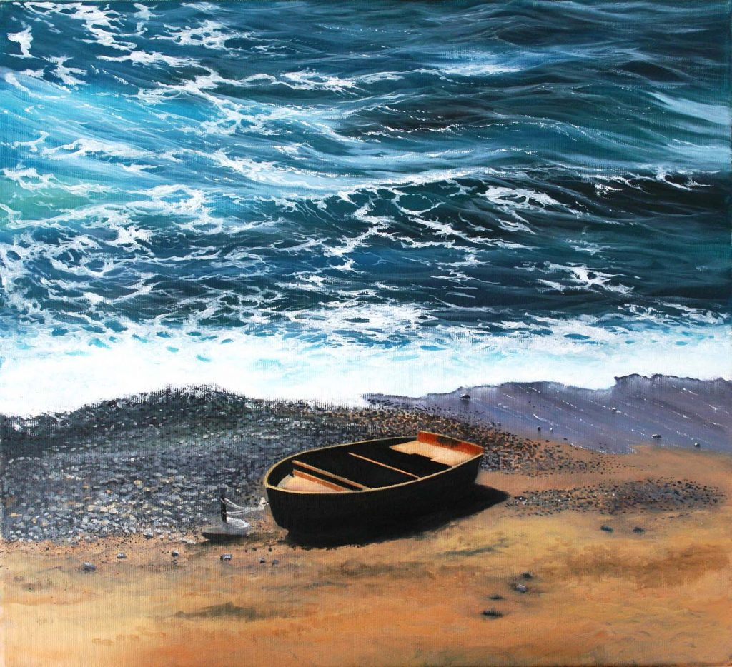 The Boat 410 x 410 Seascape Artist Cornwall Vince Basham