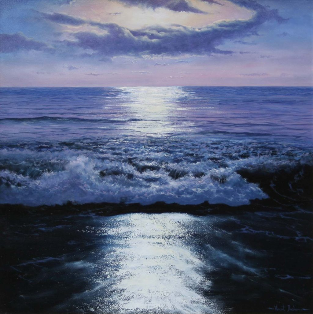 The Shimmering Sea 610 x 610 - Seascape Art Cornwall