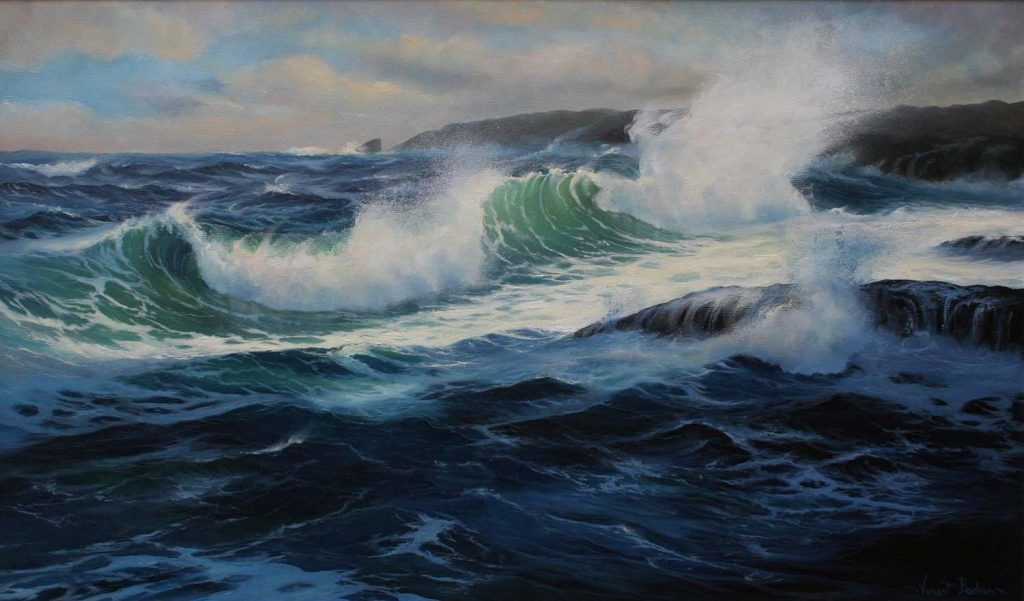 Whitecaps and Surf 2 540 x 920 Sea Paintings Cornwall