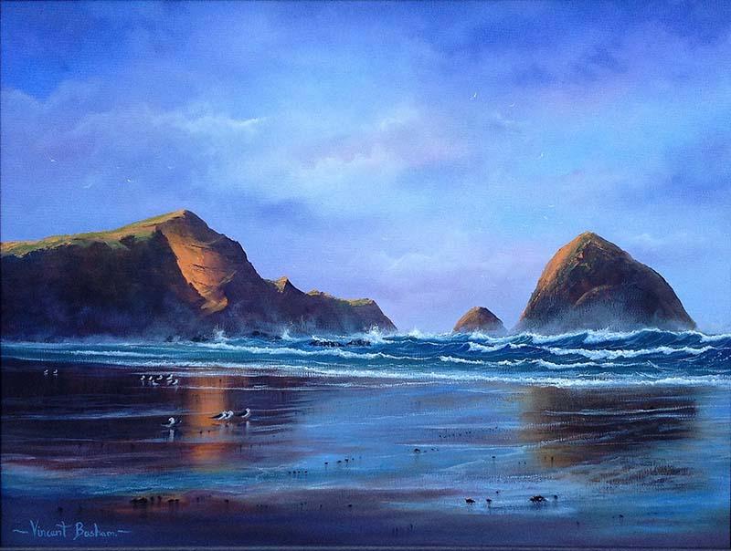 Seascape Paintings Cornwall - Vincent Basham