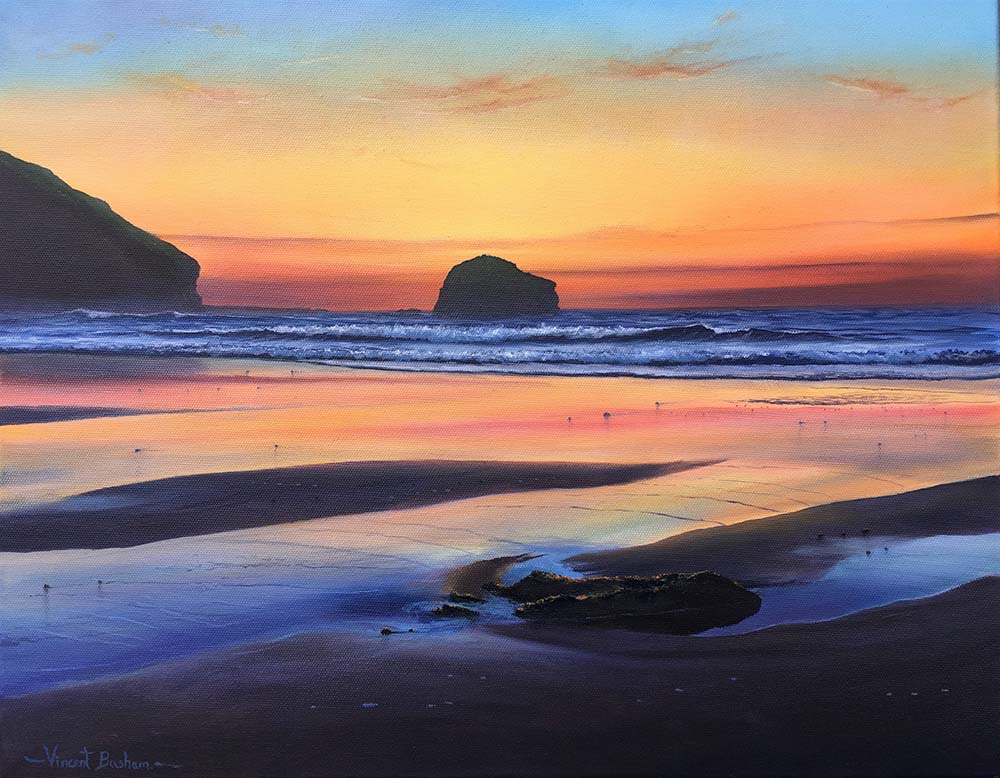 Sunset Trebarwith Strand 410 x 510